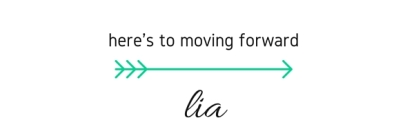 here's to moving forward