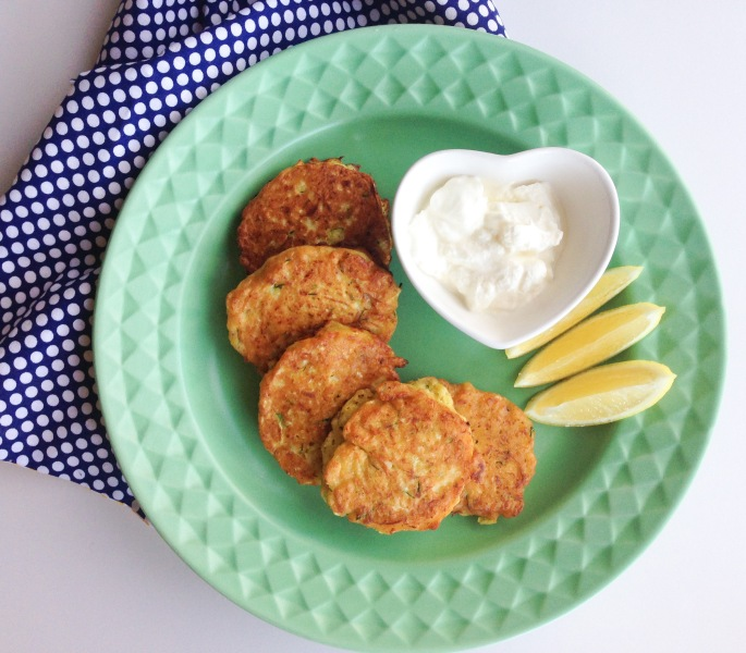 cauliflower and zucchini fritters - lia burton nutrition